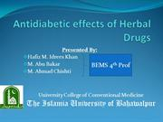 AntiDiabetic Effects of Herbal Medicine/ Drugs