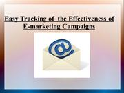 Easy Tracking of  the Effectiveness of E-marketing Campaigns