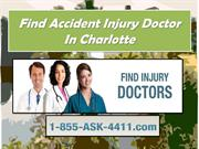 Find Accident Injury Doctor In Charlotte