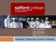 Salford College - Vocational Training Courses in Adelaide, Australia.