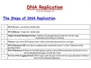 DNA Replication & Recombinant DNA