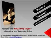 Remove the Win32.Delf Trojan