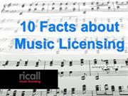 10 Facts about Music Licensing