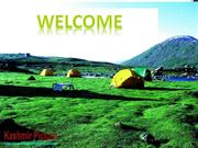 KASHMIR AS TOURIST DESTINATION