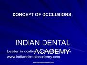 Concepts of Occlusion /fixed orthodontic courses by IDA