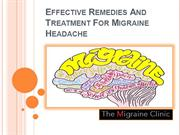Effective Remedies And Treatment For Migraine Headache