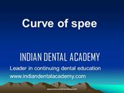 CURVE OF SPEE /fixed orthodontic courses by IDA