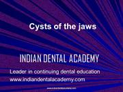 Cysts of the jaws (NXPowerLite) /fixed orthodontic courses by IDA