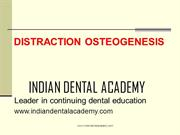 DISTRACTION OSTEOGENESIS-2 /fixed orthodontic courses by IDA