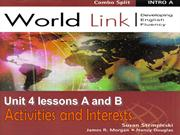 Worldlink unit 4 level 1