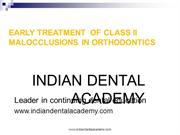 early treatment of class-II malocclusion