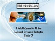 HB Locksmith 24 hrs- A Best Source for Professional Locksmith Services