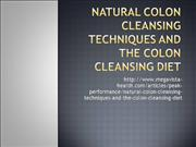 Natural Colon Cleansing Techniques and t