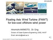 Floating Axis Wind Turbine (FAWT)