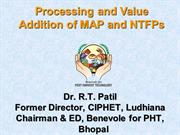 Procssing & ValueAddition of MAP/NTFP