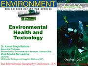 Environment Health and Toxicology