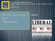 POLITICS: Conservative vs. Liberal Beliefs and Ideologies
