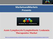 Acute Lymphocytic Leukemia Therapeutics Market