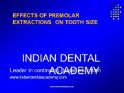 EFFECTS OF PREMOLAR EXTRACTIONS ON TOOTH SIZE