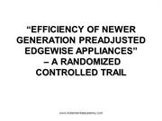 EFFICIENCY OF NEWER GENERATION EDGE WISE APPLIENCE