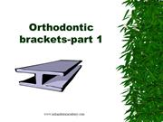 EVOLUTION OF ORTHODONTIC BRACKETS /fixed orthodontic courses by IDA