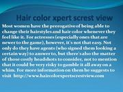 hair color xpert screst view