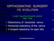 Evolution of Orthognathic Surger /fixed orthodontic courses by IDA