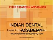 FIXED EXPANSION APPLIANCES /fixed orthodontic courses by IDA