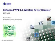 IDTP9022 Enhanced WPC 1.1 Qi Wireless Power Receiver by IDT