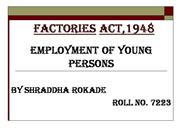 Employment of Youngs - Industrial Law