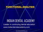 FUNCTIONAL ANALYSIS /fixed orthodontic courses by IDA