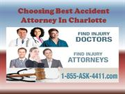 Choosing Best Accident Attorney In Charlotte