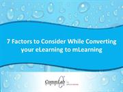 7 Factors to Consider While Converting eLearning to mLearning