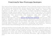 Finest Area for New iPhone apps Developers