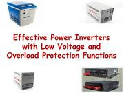 Effective Power Inverters with Low Voltage and Overload Protection Fun