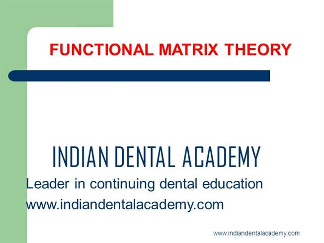 Functional Matrix Theory- Revisited /Fixed Orthodontic Courses by