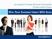 Use Applicant Tracking Software To Streamline The Recruitment Process