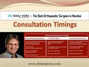 Dr Niraj Vora - Consultation Timings