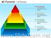 4 Staged Multicolored Pyramid Diagram