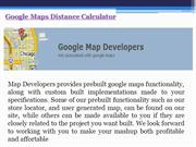 Google Maps Distance Calculator