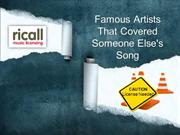 Famous Artists That Covered Someone Else's Song