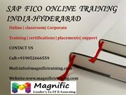 SAP  FICO  ONLINE  TRAINING INDIA-HYDERABAD