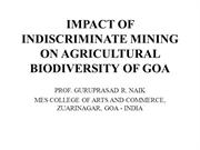 IMPACT OF INDISCRIMINATE MINING ON AGRICULTURAL BIODIVERSITY OF GOA