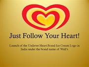 Unilever HeartBrand Ice Cream Logo Launch