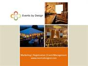 Events by Design Corporate Capabilities Presentation