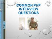 Common PHP Interview Questions