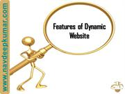 Features of a dynamic website