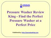 Pressure Washer Review King - Find the Perfect Pressure Washer at a Pe