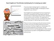 Ryan Singlehurst- The Ultimate marketing tips for increasing your sale
