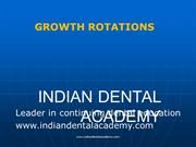 grwth rotatins /fixed orthodontic courses by IDA